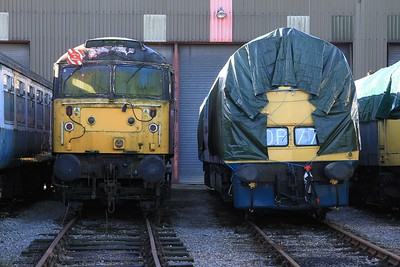 "47 761 and D1048 ""Western Lady"" standing outside the shed at Swanwick Jn (08.02.2015)"