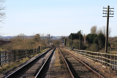 Looking from Butterley towards the end of the line at Hammersmith (08.02.2015)