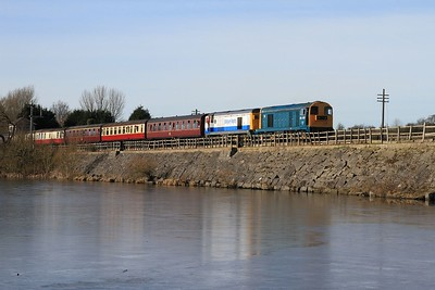 20 205+20 189 departing Hammersmith with 12.47 to Riddings (08.02.2015)