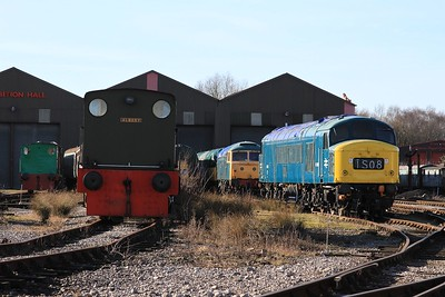 A motley collection of locos at Swanwick Jn (08.02.2015)