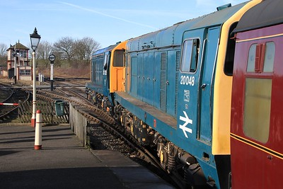 20 205+20 048 standing at Swanwick Jn. with 10.41 Riddings to Hammersmith (08.02.2015)