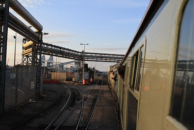 The Lancs Links tour with 37 419 trundling towards Seaforth Container Terminal (07.03.2015).