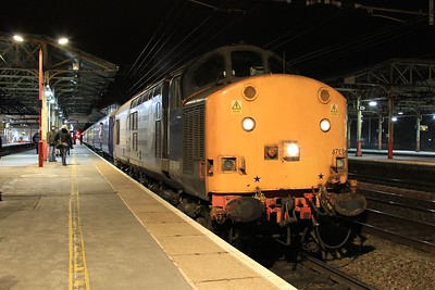 37 604 after arrival at Crewe at the end of The Lancs Links tour (07.03.2015).