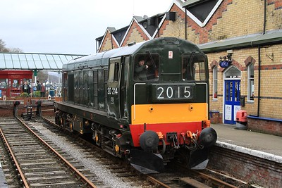 20 214 running round after arrival at Lakeside with 11.50 BLS charter from Haverthwaite to Lakeside (06.03.2015).