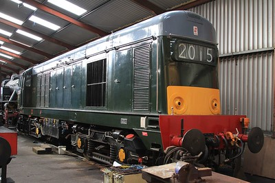 20 214 in Haverthwaite shed (06.03.2015).