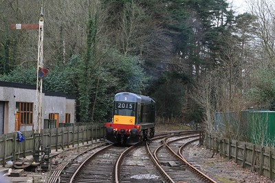 20 214 backing down onto 12.30 BLS charter from Lakeside to Haverthwaite (06.03.2015).