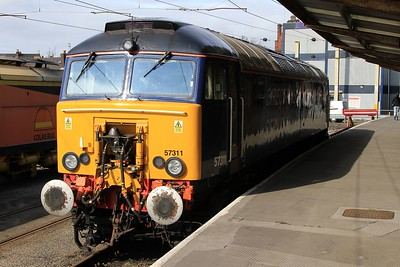 57 311 stabled at Preston (07.03.2015).