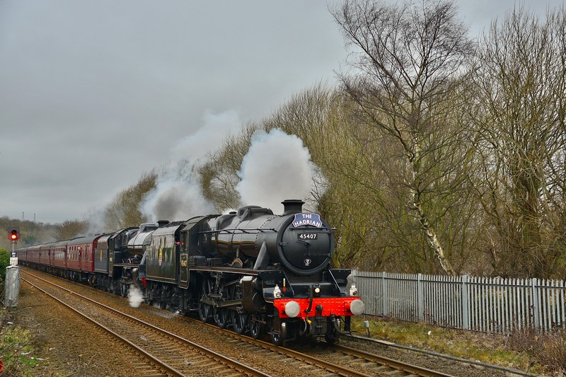 Double Headed  Steam On The Tyne Valley
