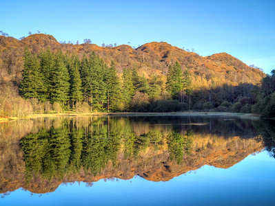 Reflections, Yew Tree tarn, Cumbria