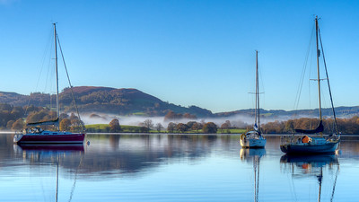 Inversion at Lake Windermere, Cumbria
