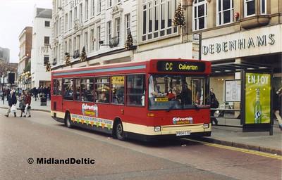 TrentBarton 904, Long Row Nottingham, 27-11-1999