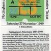 Commemorative Ticket, 27-11-1999