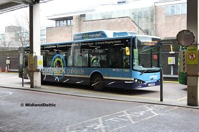 Nottingham Community Transport 989, Broad Marsh Bus Station Nottingham, 03-01-2017