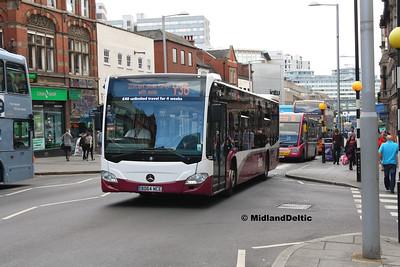 Your Bus 3104, Upper Parliament St Nottingham, 04-08-2016