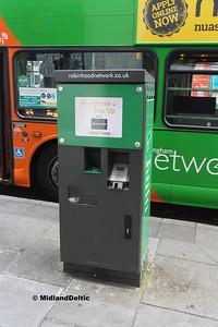 Robin Hood Card Machine, Uper Parliament St Nottingham, 04-08-2016