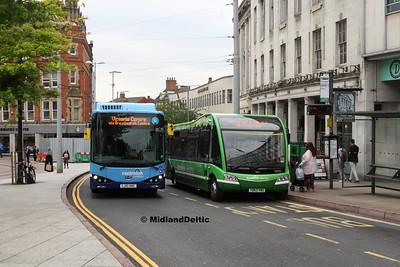 Nottingham Communuty Transport 988, 955, Beastmarket Hill Nottingham, 25-07-2017