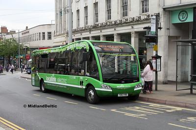 Nottingham Community Transport 955, Beastmarket Hill Nottingham, 25-07-2017