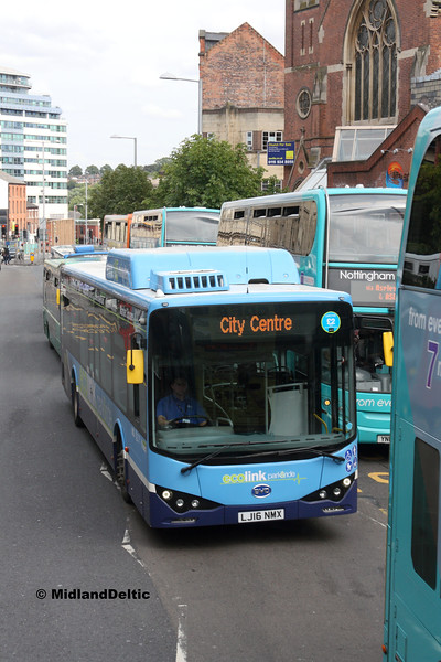 Nottingham Community Transport 982, Upper Parliament St Nottingham, 29-07-2017