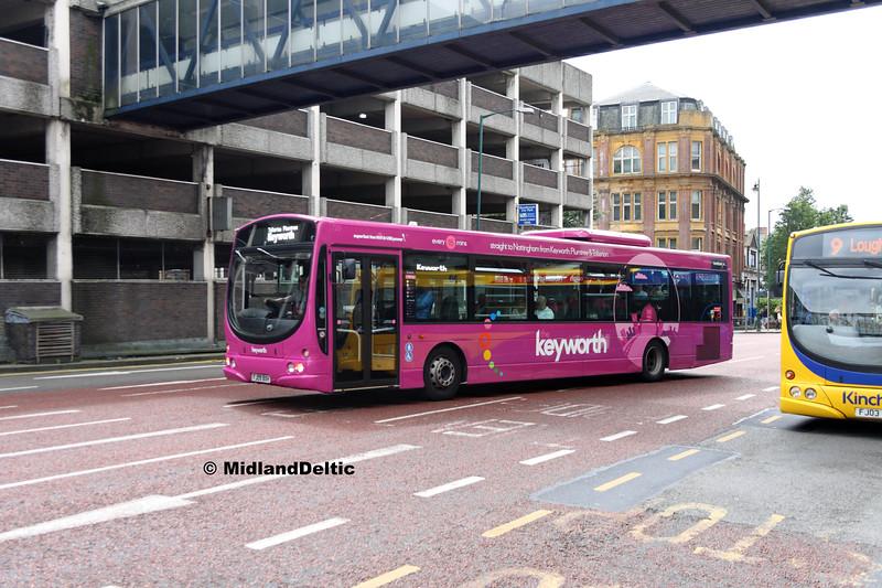 TrentBarton 729, Collin St Nottingham, 29-07-2017