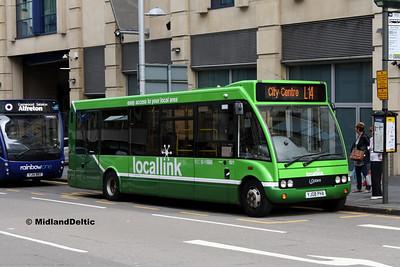 Nottingham Community Transport 921, Burton St Nottingham, 29-07-2017