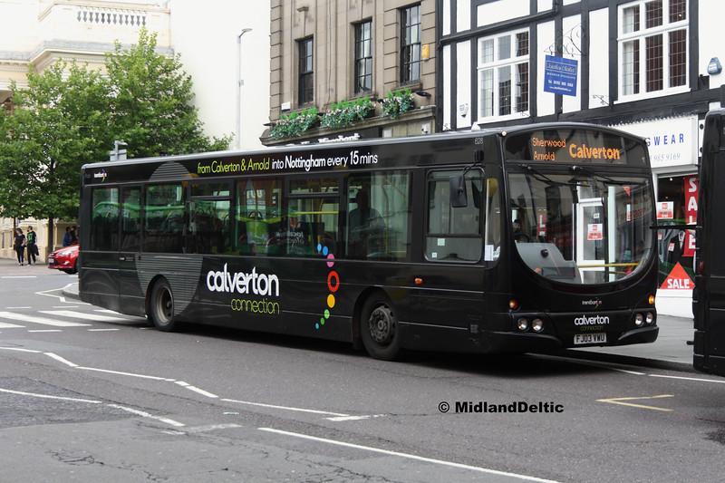 TrentBarton 628, Upper Parliament St Nottingham, 29-07-2017