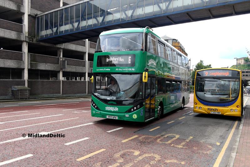 NCT 401, Kinchbus 623, Collin St Nottingham, 29-07-2017
