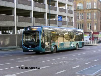 TrentBarton 328, Collin St Nottingham, 22-02-2014