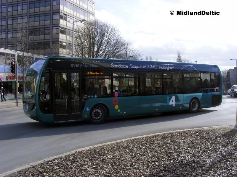 TrentBarton 331, Maid Marian Way Nottingham, 22-02-2014