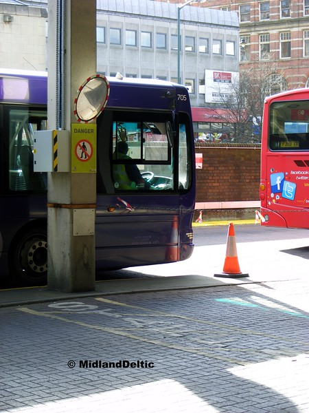 TrentBarton 705, Broad Marsh Bus Station Nottingham, 22-02-2014