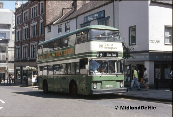 Nottingham Buses July 1990