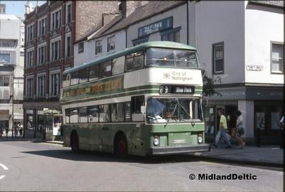Nottingham Buses July 1990