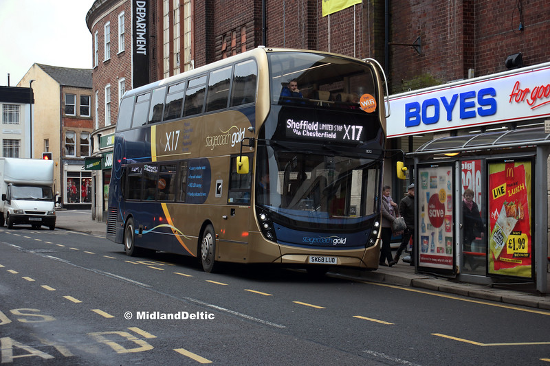 Stagecoach 11122, Cavendish St Chesterfield, 26-01-2019