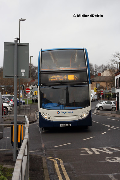 Stagecoach 15695, Holywell St Chesterfield, 26-01-2019