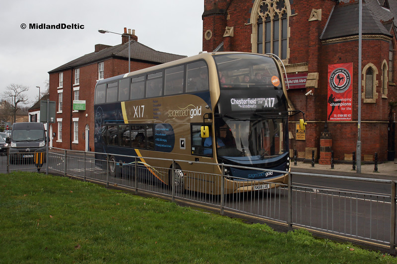 Stagecoach 11121, Holywell St Chesterfield, 26-01-2019