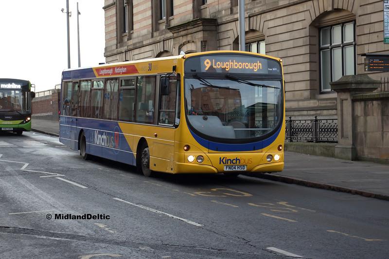 Kinchbus 652, Carrington St Nottingham, 26-01-2019