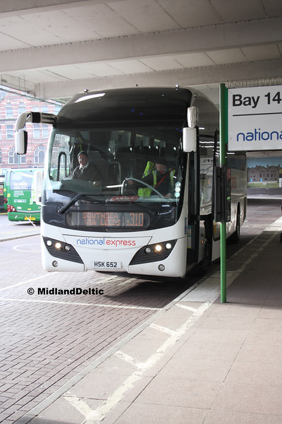 Parks of Hamilton HSK652, Broad Marsh Bus Station Nottingham, 16-01-2016