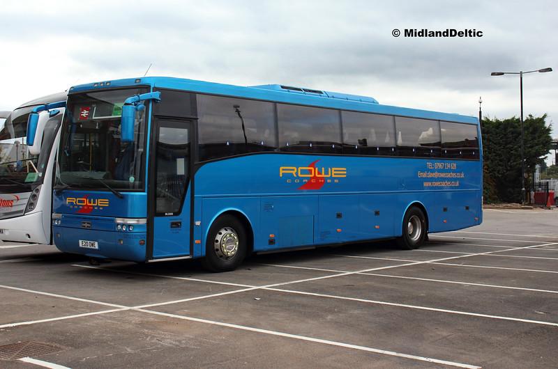 Rowe Coaches E20OWE, Derby Station Car Park, 18-08-2018