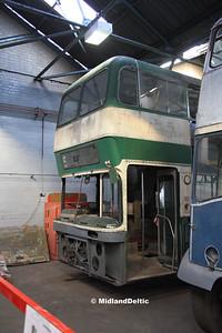 Nottingham Heritage Vehicles ETO452C, Hucknall Bus Depot, 10-01-2016