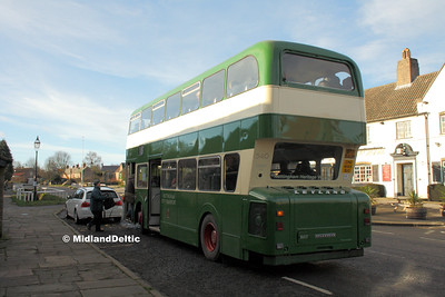 Nottingham Heritage Vehicles OTO540M, Linby (Horse & Groom), 10-01-2016