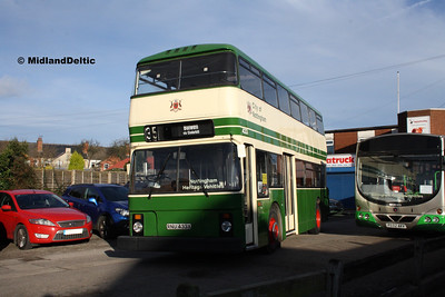 Nottingham Heritage Vehicles RNU433X, Hucknall Bus Depot, 10-01-2016