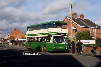 Nottingham Heritage Vehicles RNU433X, Portland Road Hucknall, 10-01-2016