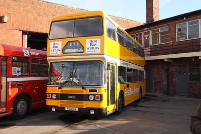 Glasgow Vintage Vehicles Trust TSO16X, Hucknall Bus Depot, 10-01-2016