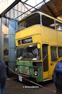 Nottingham Heritage Vehicles MVO416W, Hucknall Bus Depot, 10-01-2016