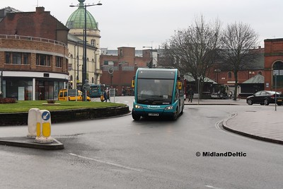 Arriva Midlands 2510, Corporation St Derby, 07-01-2017