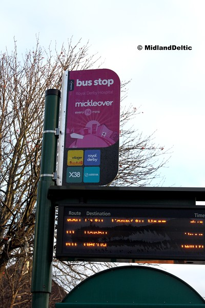 Bus Stop, Royal Derby Hsopital (Inbound), 07-01-2017