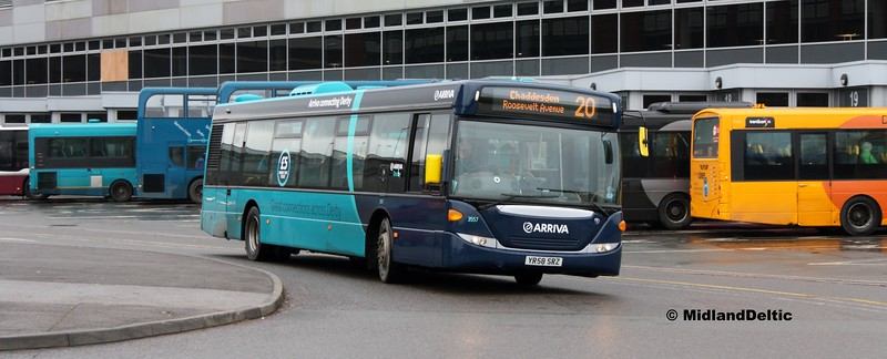 Arriva Midlands 3557, Derby Bus Station, 07-01-2017