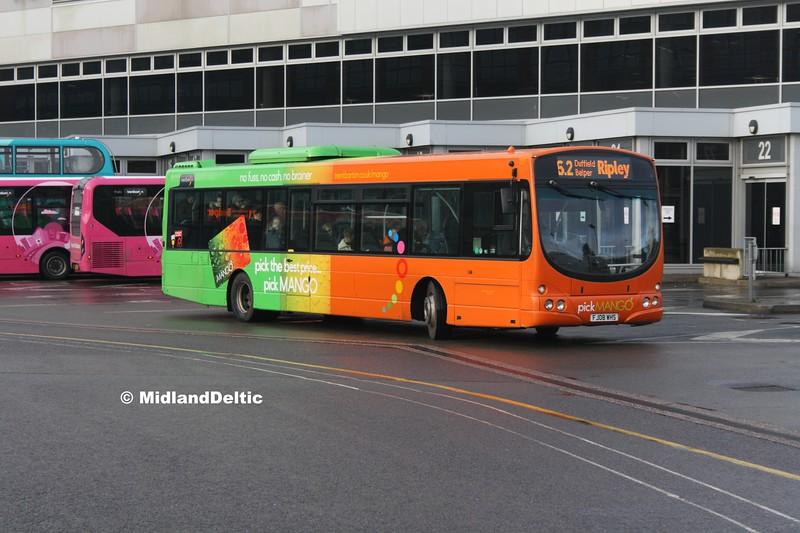 TrentBarton 727, Derby Bus Station, 07-01-2017