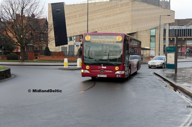 Your Bus 3031, Corporation St Derby, 07-01-2017