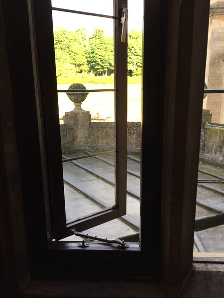 This is the window in the room I stayed in as a student. I may or may not have sat on the roof which is the top of the oriel window of the great hall. I also told the current students about the ghost I encountered in this room.