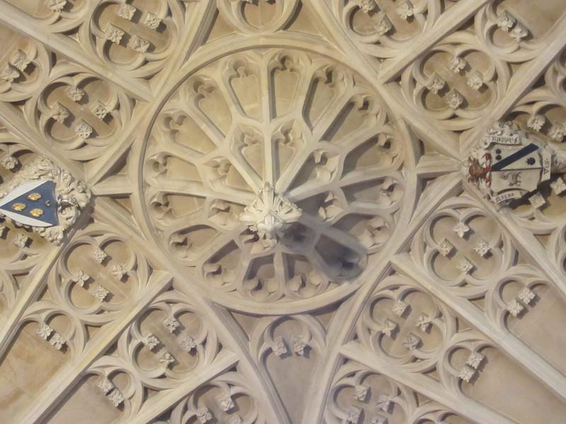 Ceiling detail at Bath Abbey.